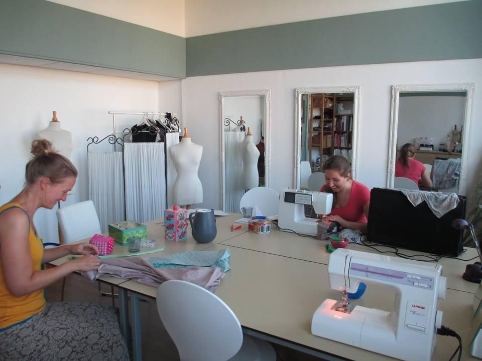 Eerste workshop in het nieuwe atelier